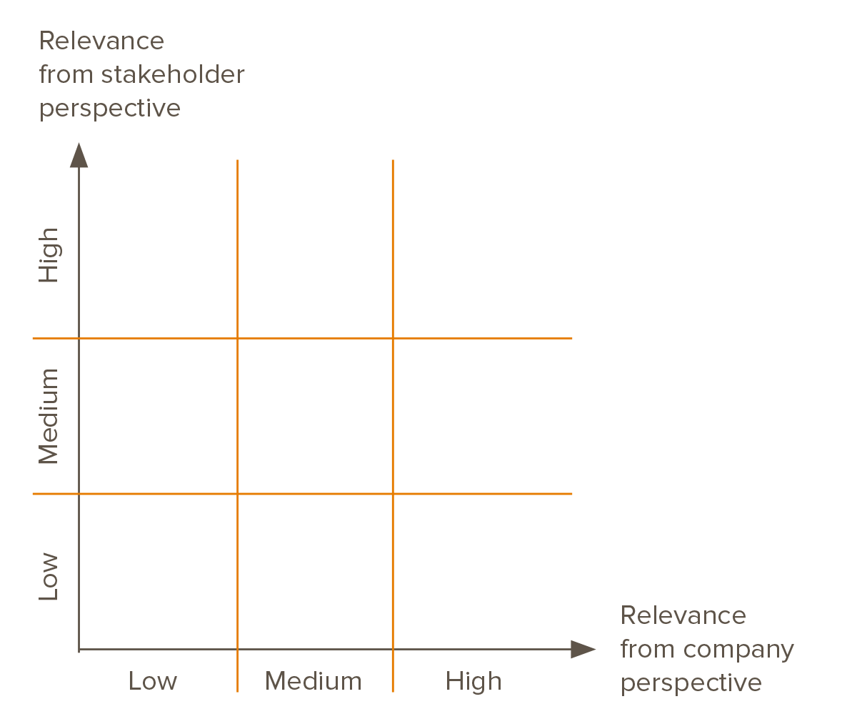 Fig. 3: Sample view of a materiality matrix