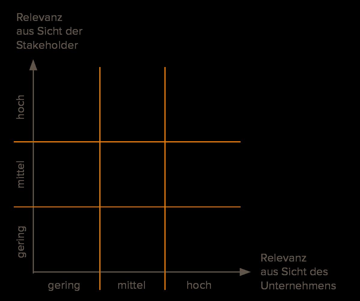 Abbildung 3: Exemplarische Darstellung einer Wesentlichkeitsmatrix
